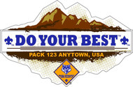 Custom Cub Scout Pack Do Your Best Car Sticker (SP5417)