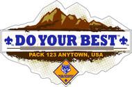 Custom Cub Scout Pack Do Your Best Car Sticker (SP5417)