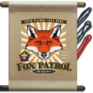 Custom Wood Badge Fox Patrol Mini Flag - Sunray (SP DP5128)