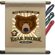 Custom Wood Badge Bear Patrol Mini Flag - Sunray (SP DP5130)