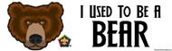 Wood Badge Bear Bumper Sticker - White (SP5069)