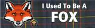 Wood Badge Fox Tartan Bumper Sticker (SP5051)