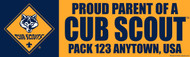 Custom Proud Parent of a Cub Scout Bumper Sticker (SP4620)