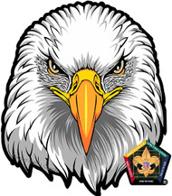 Wood Badge Eagle Car Window Sticker (SP5395)