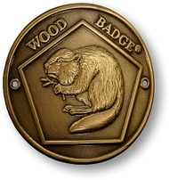 Wood Badge® Beaver Hiking Stick Medallion
