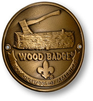 Wood Badge® Log & Axe Hiking Stick Medallion