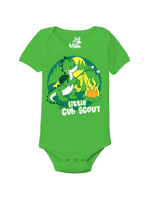 little cub scout dino print toddler bodysuit