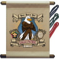 Custom Wood Badge Eagle Patrol Mini Flag - Mighty (SP3251)