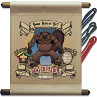 Custom Wood Badge Beaver Patrol Mini Flag - Mighty Beaver (SP3247)