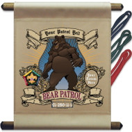 Custom Wood Badge Bear Patrol Mini Flag - Mighty (SP3243)