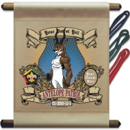 Custom Wood Badge Antelope Patrol Mini Flag - Mighty (SP3750)