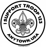 Custom I Support BSA Troop Car Sticker (SP5492)