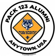 Custom Cub Scout Pack Alumni Car Sticker with Color Logo (SP5489)