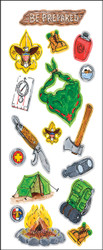 Camping 17 Sticker Sheet