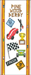 Pinewood Derby 11 Sticker Sheet