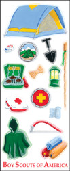 Boy Scouts Camping 15 Sticker Sheet
