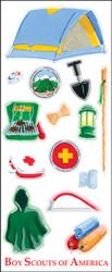 Boy Scouts Camping 15 Sticker Sheet