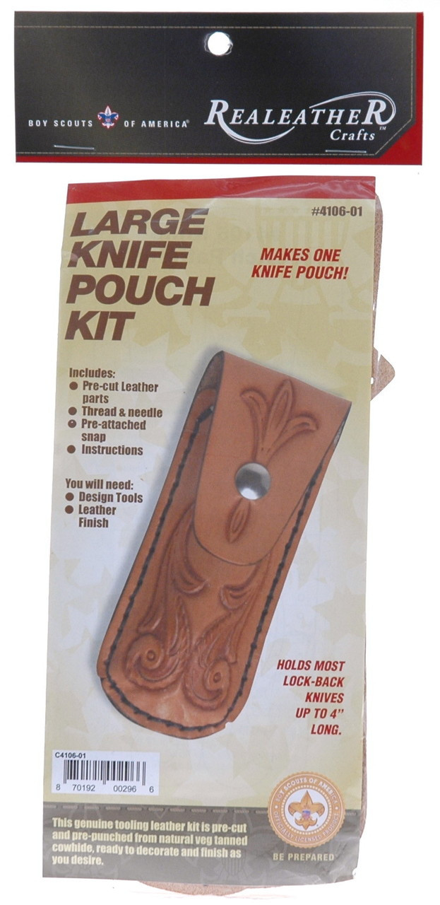 Large Knife Pouch Leather Kit
