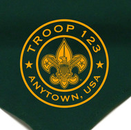 Custom Boy Scout Troop Neckerchief with BSA Logo Circle (SP6)