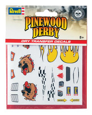 Pinewood Derby Dry Transfer Decal B
