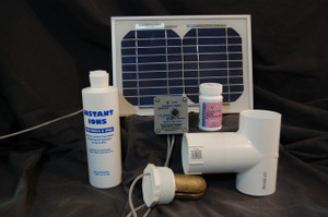 Spa or Hot Tub Solar Powered Deluxe Sunshine Ionizer Model SSDSWS Has Electrodes Containing Silver Does not include bottle of Instant Ions.