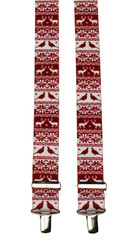 Red and white festive braces