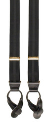 Black Striped Button On Braces