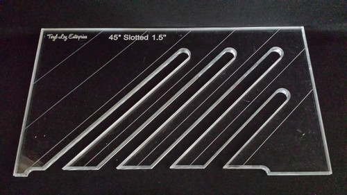 "3/8"" Template, 45' Slotted Ruler, 1-1/2"", Medium"