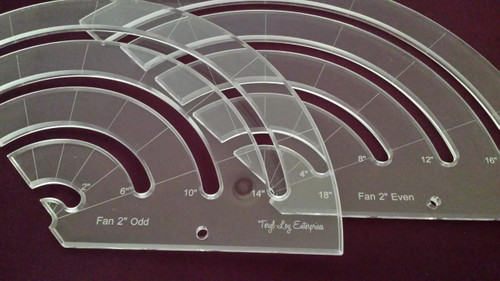 "1/4"" Template, Fan Set, 2"", Medium"