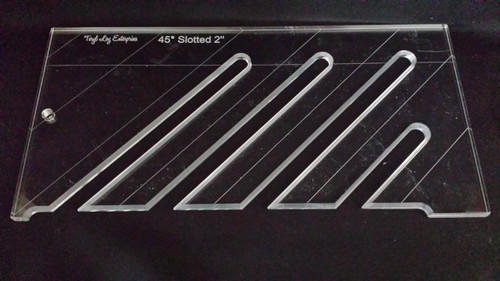 """45' Slotted Ruler, 2"""" spacing, 1/4"""" thick, Medium"""
