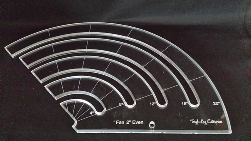 "3/8"" Template, Fan 2"" Even Slotted Ruler, Large"