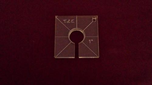 Inside Circle Template, 1 inch diameter