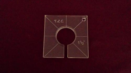 Inside Circle Template, 1-1/2 inch diameter