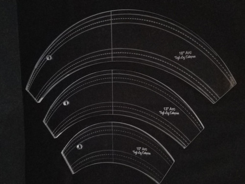 "1/4"" Template, Arc Set"