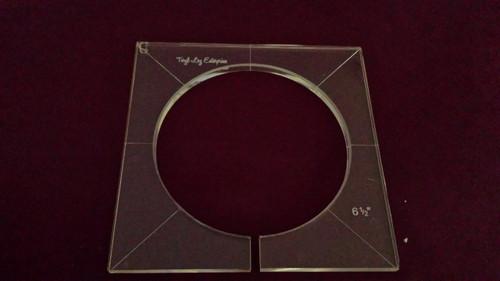 Inside Circle Template, 6-1/2 inch diameter