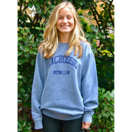 Lacrosse crew neck blue sweatshirt