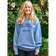 Lacrosse crew neck blue sweatshirt