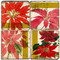 Poinsettia Botanical Coaster Set. Handmade Marble Giftware by Studio Vertu.