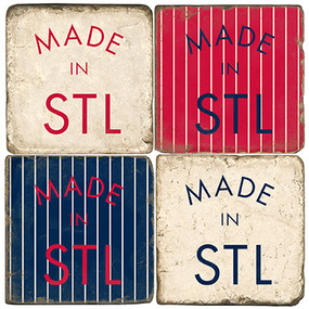Made in St. Louis Coaster Set. Handcrafted Marble Giftware by Studio Vertu.