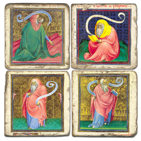 The Vatican Philosophers Coaster Set. Handcrafted Marble Giftware by Studio Vertu.