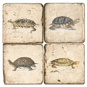 Turtle Coaters Set. Handcrafted Marble Giftware by Studio Vertu.
