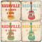 Nashville Coaster Set. Handcrafted Marble Giftware by Studio Vertu.