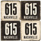 Nashville 615 Area Code Coaster Set