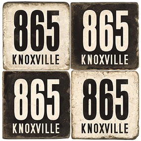 Knoxville Tennessee Area Code Coaster Set.