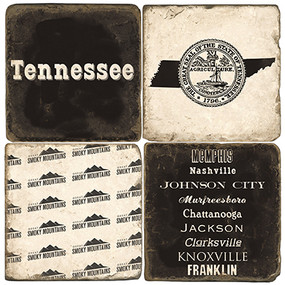 Tennessee Coaster Set. Handmade Marble Giftware by Studio Vertu.