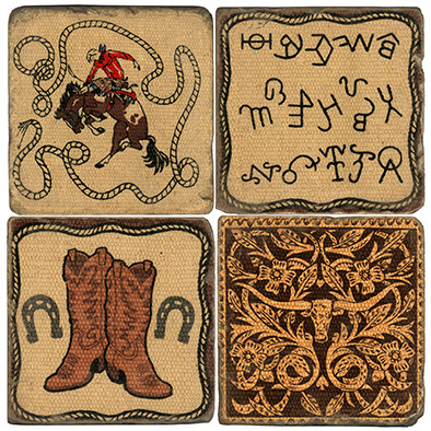 Western Themed Coaster Set