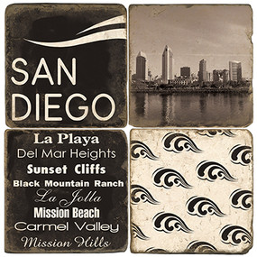 Black & White San Diego Coaster Set