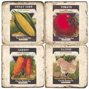 Seed Packet Coaster Set
