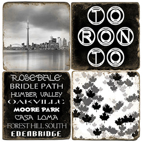 Black & White Toronto Coaster Set