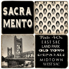 Black & White Sacramento Coaster Set